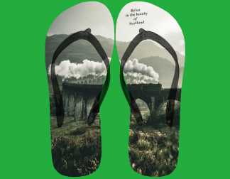 flip flop image with jacobite train