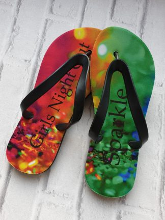 Flip Flops with text Girls Night out Sparkle