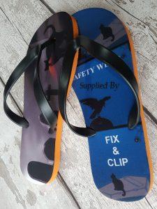 halloween Flip Flop with Fix & Clip logo