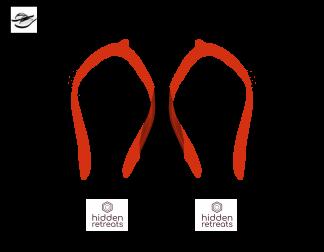 Flip flops Logo image for Hidden retreats