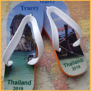 Flip Flops with Thailand on them
