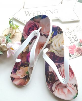 Flip Flops with flower blossom