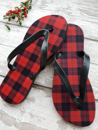 tartan flip flop