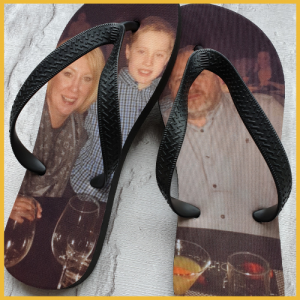 an image of a family on Flip Flops