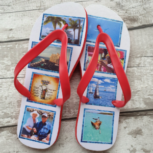 Flip Flops with snap in photo options