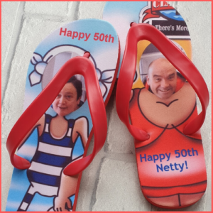 Flip Flops with a humorous