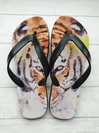 Flip Flops with beautiful tiger print