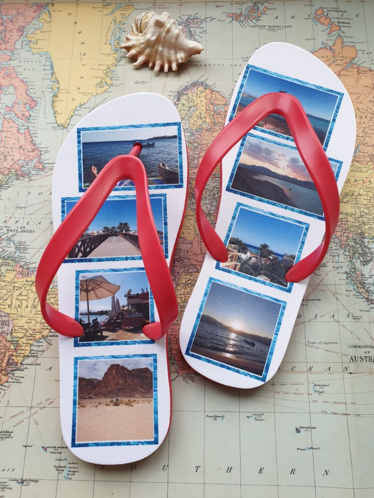 Flipf Flops with images of a country
