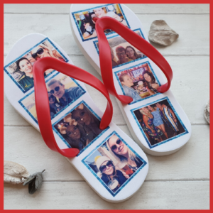 Flip Flops with a collage of images