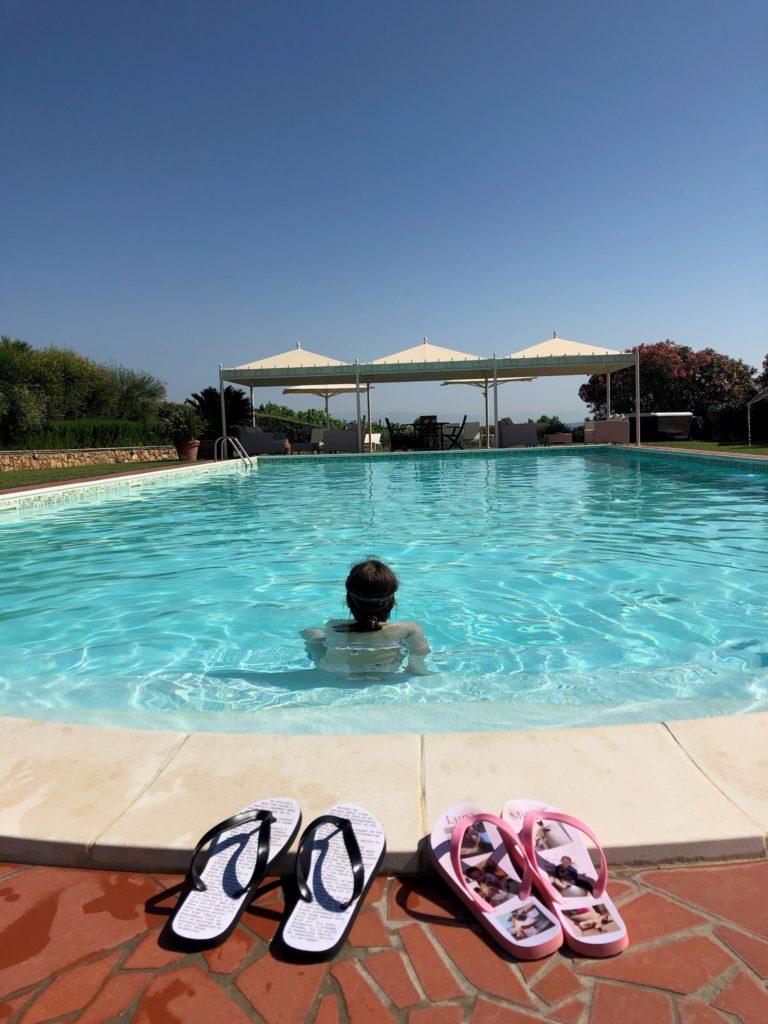 Flip Flops by a pool