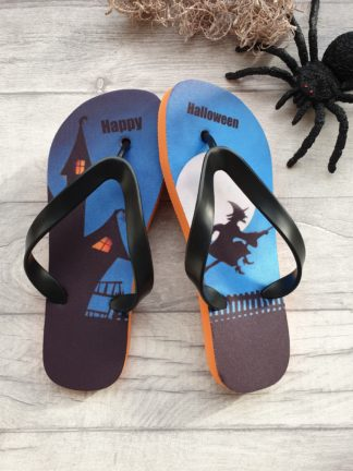 Flip Flops with a Halloween design on them